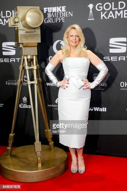 German moderator Barbara Schoeneberger arrives for the Goldene Kamera on March 4 2017 in Hamburg Germany