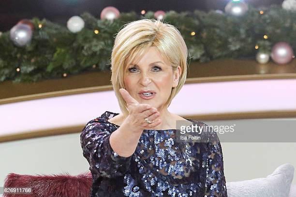 German moderator Carmen Nebel moderates the tv show 'Die schoensten Weihnachtshits' on November 30 2016 in Munich Germany
