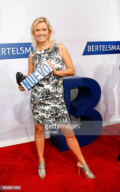German moderator Carola Ferstl attends the Bertelsmann Summer Party at Bertelsmann Repraesentanz on September 8 2016 in Berlin Germany