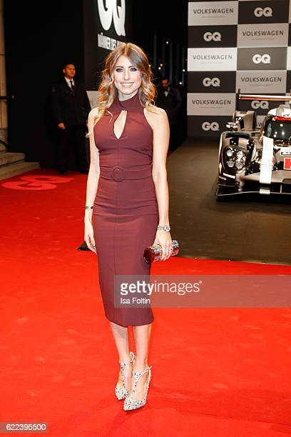German moderator Catherine Hummels attends the GQ Men of the year Award 2016 at Komische Oper on November 10 2016 in Berlin Germany