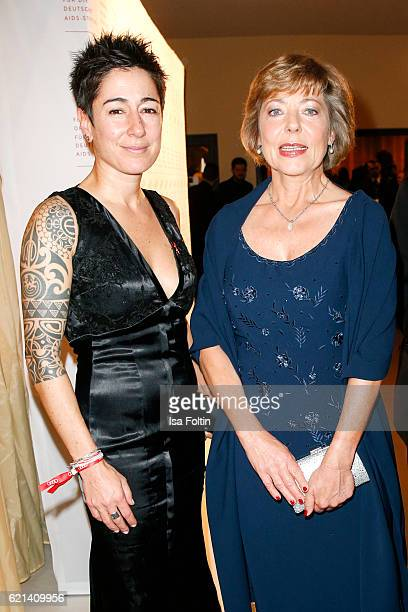 German moderator Dunja Hayali and Daniela Schadt girlfriend of the federal president of Germany Joachim Gauck arrive at the 23rd Opera Gala at...
