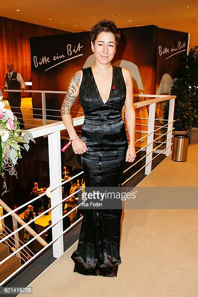 German moderator Dunja Hayali arrives at the 23rd Opera Gala at Deutsche Oper Berlin on November 5 2016 in Berlin Germany