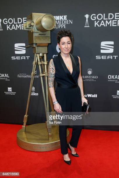 German moderator Dunja Hayali arrives for the Goldene Kamera on March 4 2017 in Hamburg Germany