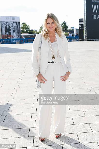 German moderator Frauke Ludowig attends the Marc Cain show spring/summer 2017 at CITY CUBE Panorama Bar on June 28 2016 in Berlin Germany