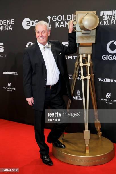 German moderator Joerg Wontorra arrives for the Goldene Kamera on March 4 2017 in Hamburg Germany