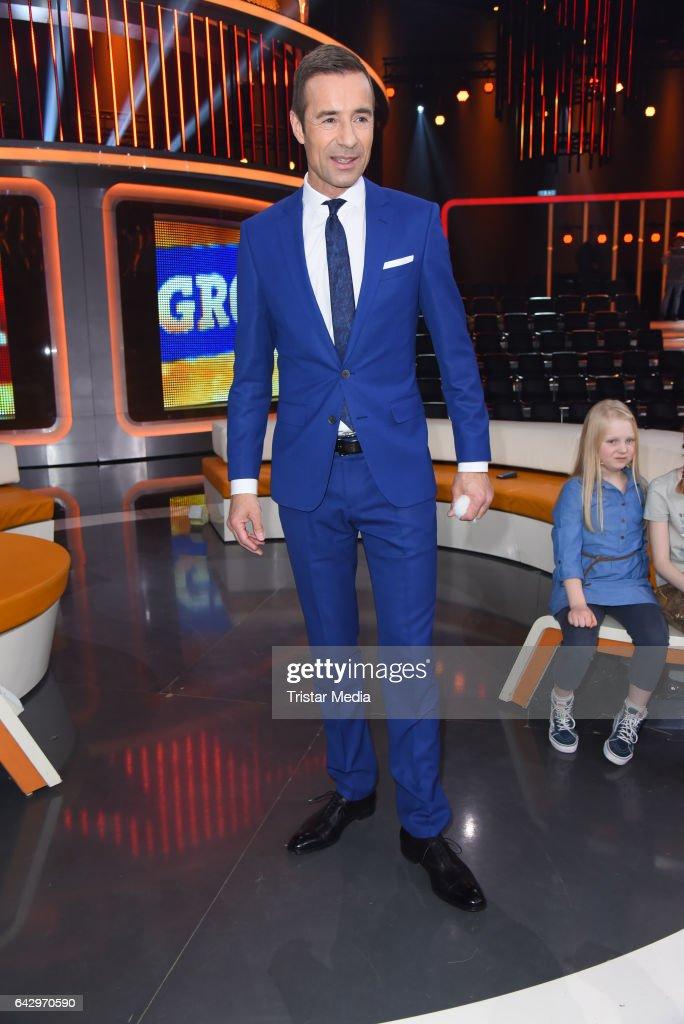 German moderator Kai Pflaume attends the TV Show 'Klein Gegen Gross' at Studio Adlershof on February 19, 2017 in Berlin, Germany.