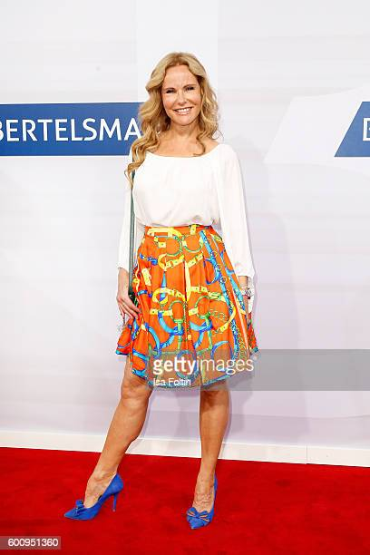 German moderator Katja Burkard attends the Bertelsmann Summer Party at Bertelsmann Repraesentanz on September 8 2016 in Berlin Germany