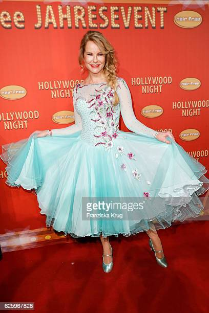 German moderator Katja Burkard attends the Hollywood Superhero Fairytale Night hosted by Jens Hilbert on November 26 2016 in Darmstadt Germany