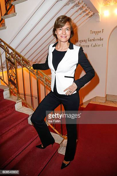 German moderator Maybrit Illner attends the First Steps Awards 2016 at Stage Theater on September 19 2016 in Berlin Germany