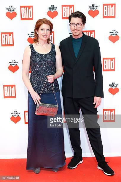 German moderator Monica Lierhaus and guest attend the Ein Herz Fuer Kinder gala on December 3 2016 in Berlin Germany