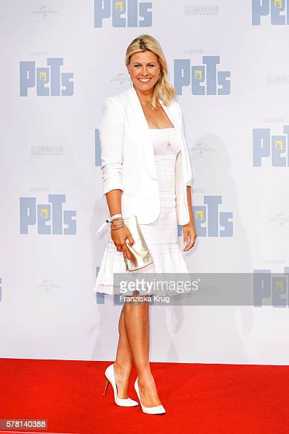 German moderator Nadine Krüger attends the premiere of the film 'PETS' at CineStar on July 20 2016 in Berlin Germany