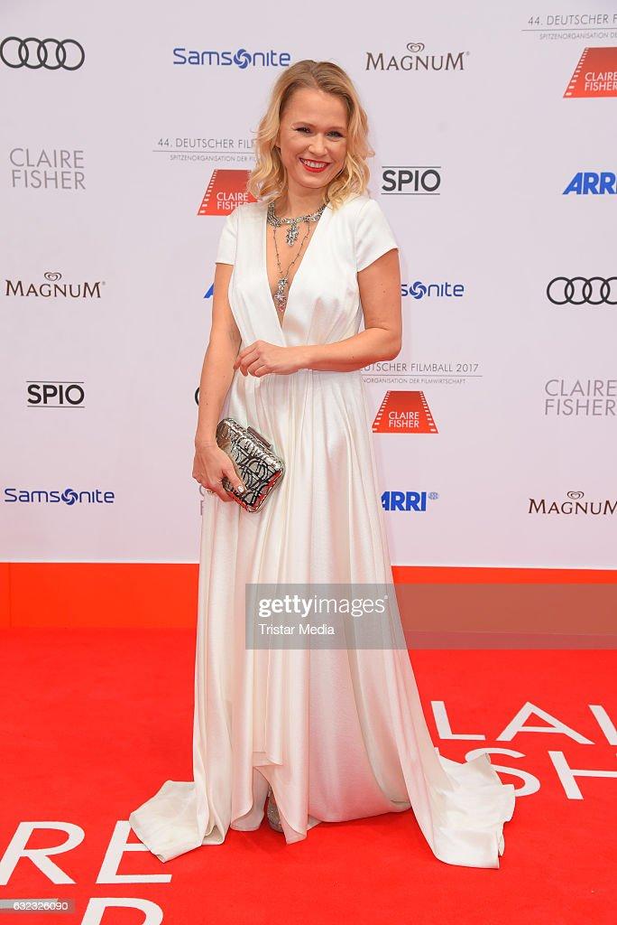 German moderator Nova Meierhenrich attends the German Film Ball 2017 at Hotel Bayerischer Hof on January 21, 2017 in Munich, Germany.