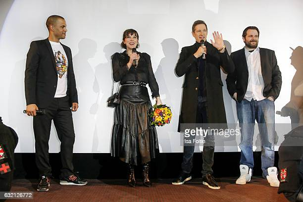 German moderator Patrice Bouedibela US actress Milla Jovovich her husband producer Paul W S Anderson Youtube star and games producer Gronkh and...