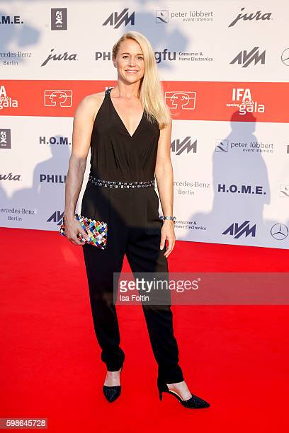 German moderator Singa Gaetgens attends the IFA 2016 opening gala on September 1 2016 in Berlin Germany