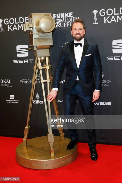German moderator Steven Gaetjen arrives for the Goldene Kamera on March 4 2017 in Hamburg Germany