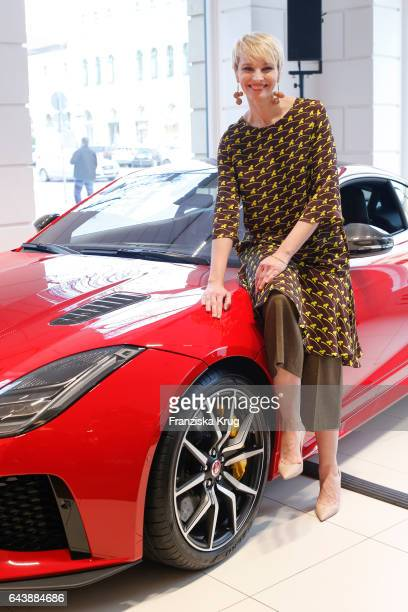 German moderator Susann Atwell attends the Jaguar X Juniqe Art Salon opening on February 22 2017 in Munich Germany