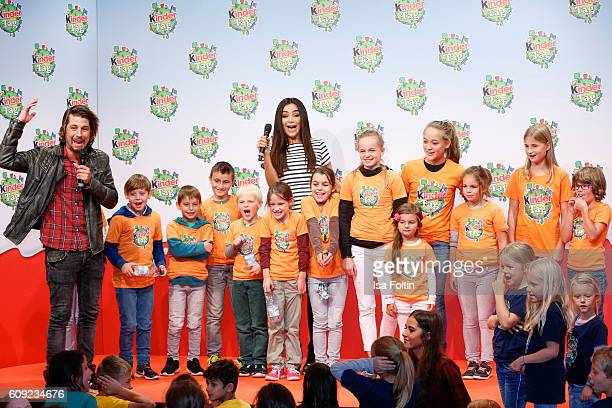 German moderator Tommy Scheel and german moderator Verona Pooth with kids during the KinderTag to celebrate children's day on September 20 2016 in...