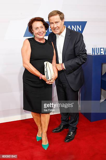 German moderator Ulrich Meyer and his wife Georgia Tornow attend the Bertelsmann Summer Party at Bertelsmann Repraesentanz on September 8 2016 in...