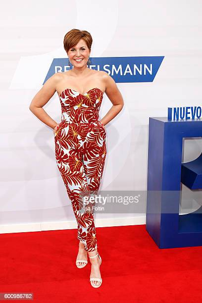 German moderator Vanessa Blumhagen attends the Bertelsmann Summer Party at Bertelsmann Repraesentanz on September 8 2016 in Berlin Germany