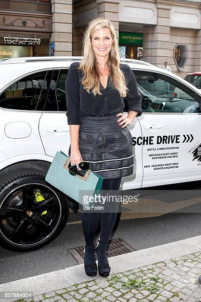German moderator Verena Wriedt attends the 5th Nachtschicht Berlin Design Night on June 3 2016 in Berlin Germany