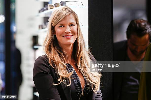German moderator Verena Wriedt during presentation of the Porsche Design Timepieces '1919 Datetimer Eternity Black Edition' on May 25 2016 in Berlin...