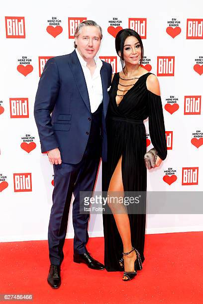 German moderator Verona Pooth and her husband Franjo Pooth attend the Ein Herz Fuer Kinder gala on December 3 2016 in Berlin Germany