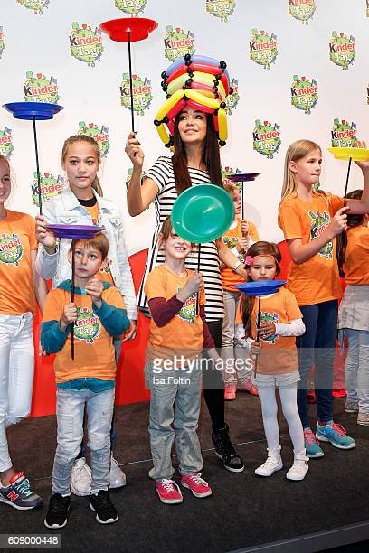 German moderator Verona Pooth attends the KinderTag to celebrate children's day on September 20 2016 in Noervenich near Dueren Germany