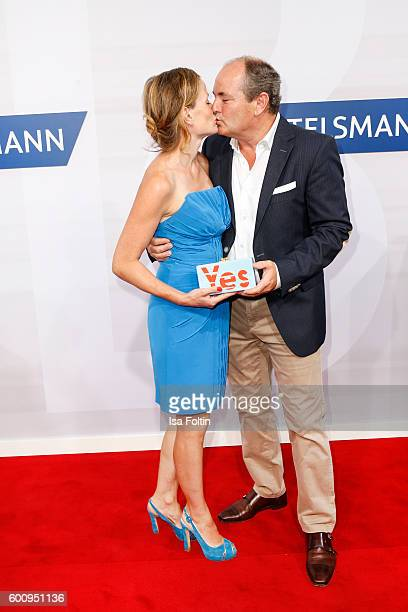 German moderator Wolfram Kons and his wife Alexa Apermann attend the Bertelsmann Summer Party at Bertelsmann Repraesentanz on September 8 2016 in...