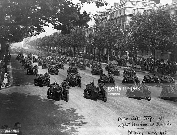 German motorcycle units in Paris 1940
