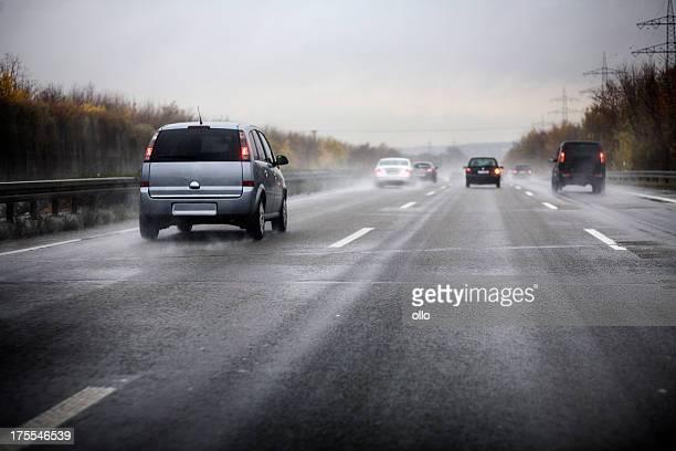 Deutsche Autobahn, schlechte Wetterbedingungen