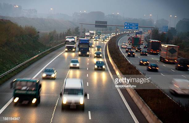 German motorway early in the morning