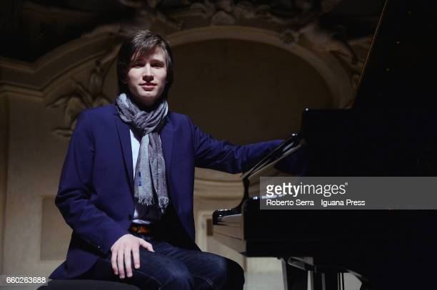 German musician Amadeus Wiesensee performs his concert for Bologna Festival at Oratorio San Filippo Neri on March 28 2017 in Bologna Italy