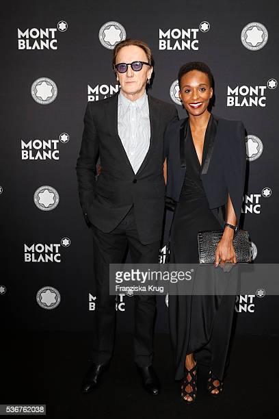 German musician Marius MuellerWesternhagen and his girlfriend Lindiwe Suttle attend the Montblanc De La Culture Arts Patronage Award 2016 at...