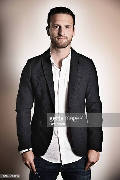 German national player Shkodran Mustafi of Valencia CF poses during a photocall at Hotel Melia Valencia on September 26 2014 in Valencia Spain