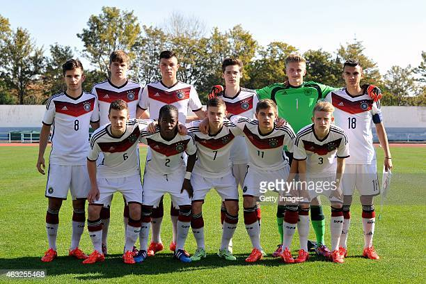 German national team formation with Nikola Kosanic Florian Baak Renat Dadachov Tim Sechelmann JanChristoph Bartels Atakan Akkaynak on the top row and...