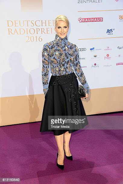 German new anchor Judith Rakers attends the Deutscher Radiopreis 2016 on October 6 2016 in Hamburg Germany