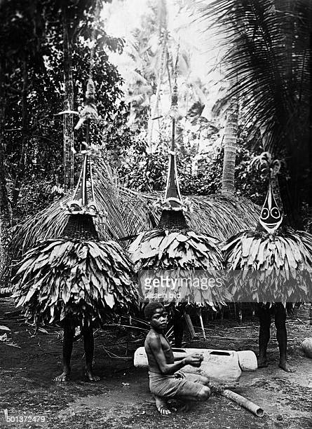 Duk Duk dancers of the Tolai tribe from the New Britannia Archipelago undated probably around 1910