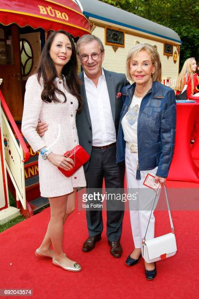 German news anchor Jan Hofer with his girlfriend Phong Lan and German presenter Dagmar Berghoff during the Circus Roncalli Gala Premiere at Moorweide...