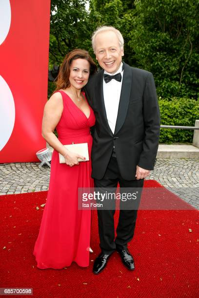 German News Anchor Tom Buhrow and his wife Sabine Stamer attend the Bayerischer Fernsehpreis 2017 at Prinzregententheater on May 19 2017 in Munich...