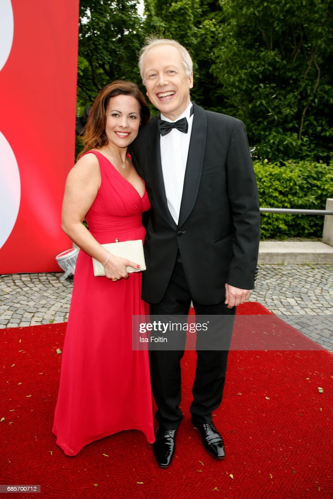 German News Anchor Tom Buhrow and his wife Sabine Stamer attend the Bayerischer Fernsehpreis 2017 at Prinzregententheater on May 19, 2017 in Munich, Germany.