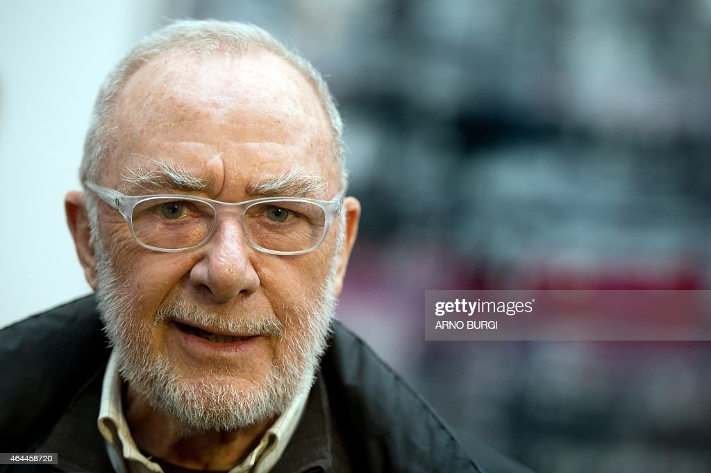 German painter <a gi-track='captionPersonalityLinkClicked' href=/galleries/search?phrase=Gerhard+Richter&family=editorial&specificpeople=661262 ng-click='$event.stopPropagation()'>Gerhard Richter</a> is pictured during a press preview on February 25, 2015 at the Albertinum museum in Dresden, eastern Germany. The 83-years-old artist organised a new hanging of his work in the rooms dedicated to him at the museum. AFP PHOTO / DPA / ARNO BURGI +++ GERMANY OUT