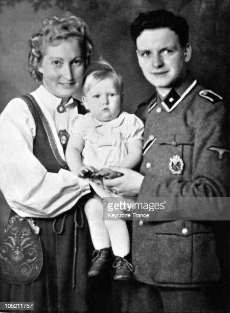 German Parents With A German Allegedly Aryan Girl Born In A Lebensborn Center Of Eugenics During The Second World War The Father Wears A Uniform Of...