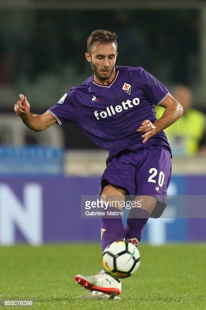 German Pezzella of ACF Fiorentina in action during the Serie A match between FC Crotone and Benevento Calcio at Stadio Artemio Franchi on September...