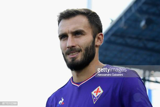 German Pezzella of ACF Fiorentina looks on before the Serie A match between Spal and ACF Fiorentina at Stadio Paolo Mazza on November 19 2017 in...