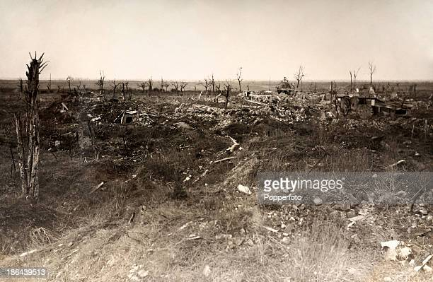 A German photograph featuring the battlefield at Bruay after the Battle of the Somme during World War One circa July 1916