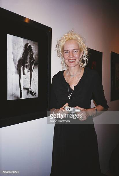 German photographer and director Ellen von Unwerth at her exhibition 'Original Sin' at the Staley Wise Gallery New York City USA circa 1999