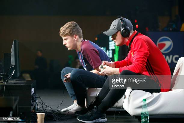 German player ESports Florian Muller gamertag ÔCodyÕ competes in the final of the video game 'FIFA 18' football developed and published by Electronic...