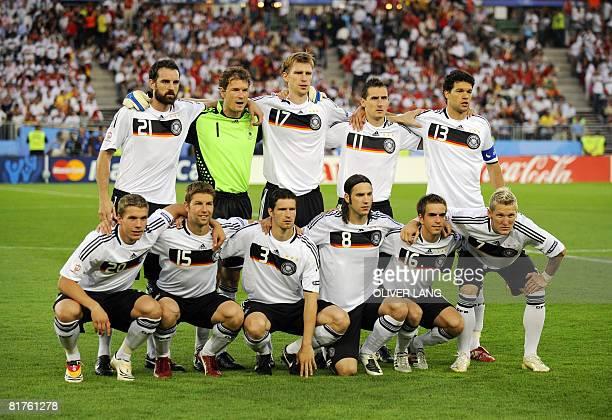 German players defender Christoph Metzelder goalkeeper Jens Lehmann defender Per Mertesacker forward Miroslav Klose and midfielder Michael Ballack...