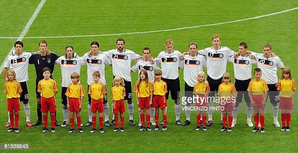 German players German midfielder Michael Ballack goalkeeper Jens Lehmann midfielder Torsten Frings forward Mario Gomez defenders Christoph Metzelder...