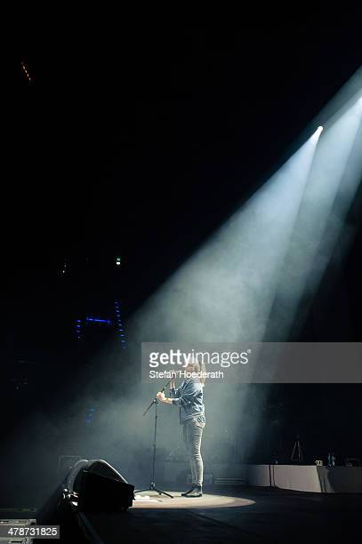 German poet and actress Julia Engelmann performs live as support for Tim Bendzko at MaxSchmeling Hall on March 14 2014 in Berlin Germany